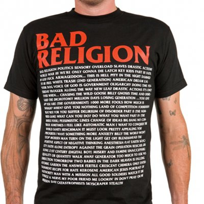 Bad Religion - Song List | T-Shirt