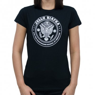 Jello Biafra - Circle Crest Black | Fitted Girl T-Shirt