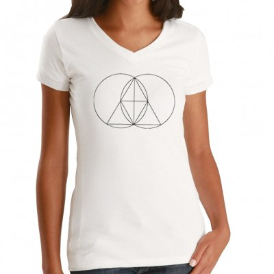 The Glitch Mob - Geometry | Girl V-Neck