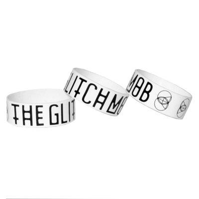The Glitch Mob - Logo |White Wristband