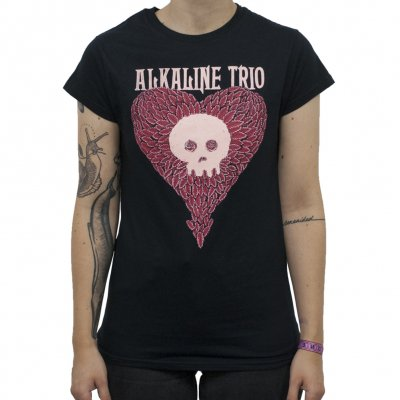 Alkaline Trio - Heartskull-Leaves | Girl Fitted T-Shirt