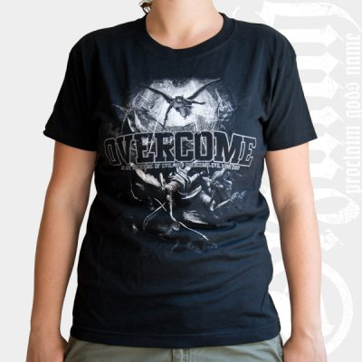 izaiah - Overcome | Girl Fitted T-Shirt