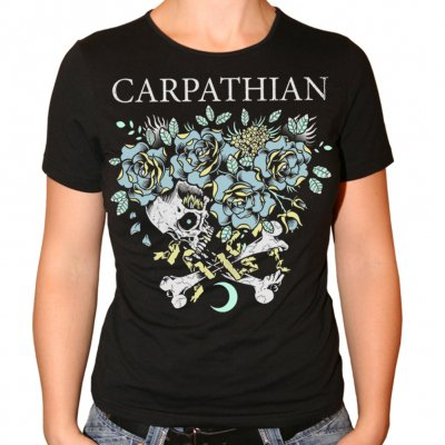 Carpathian - Skull Heart | Girl Fitted T-Shirt