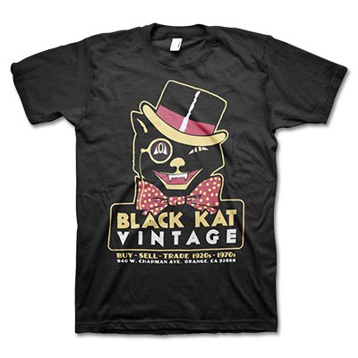 black-kat-kustoms - Vintage Wink | T-Shirt