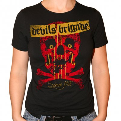 Devils Brigade - Skull Bones | Girl Fitted T-Shirt