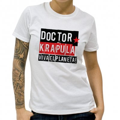 doctor-krapula - Viva El Planeta White | Fitted Girl T-Shirt