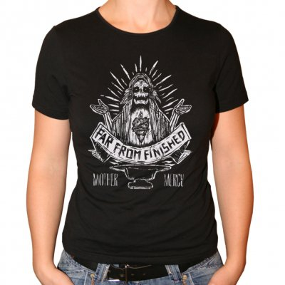 far-from-finished - Mother Mercy | Girl Fitted T-Shirt