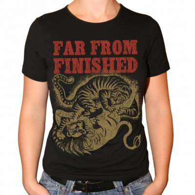 far-from-finished - Tiger | Fitted Girl T-Shirt