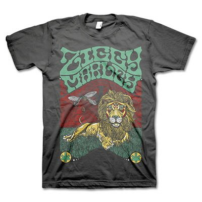 ziggy-marley - Fly Rasta Lion Charcoal | T-Shirt