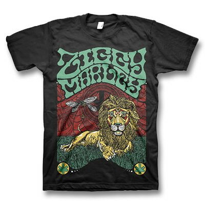 ziggy-marley - Fly Rasta Lion Black | T-Shirt