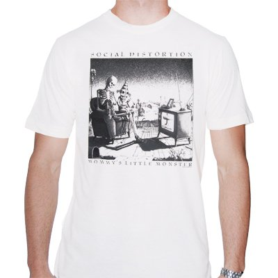 social-distortion - Mommy's Little Monster White | T-Shirt