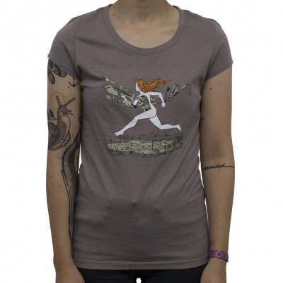 neko-case - On The Run | Girl Fitted T-Shirt