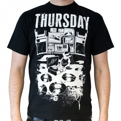 Thursday broken vinyl t shirt