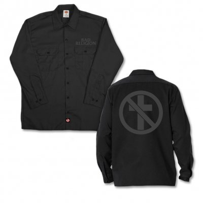 bad-religion - Monochrome Black | Dickies Work Shirt