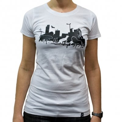 Veglay - Home White | Girls Fitted T-Shirt