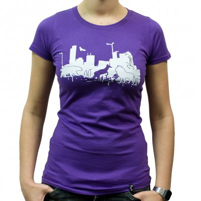 Veglay - Home Purple | Girl Fitted T-Shirt