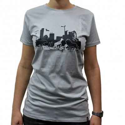 Veglay - Home Gray | Girl Fitted T-Shirt