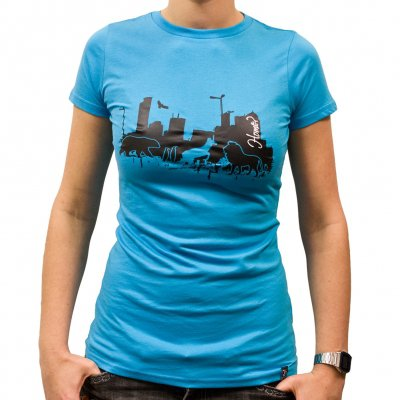 Veglay - Home Aqua | Girl Fitted T-Shirt