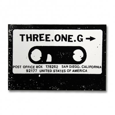 Three One G - Cassette | Sticker