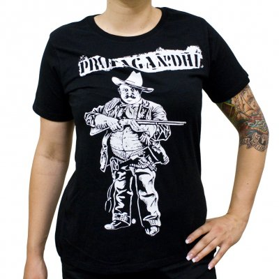 propagandhi - Cowboy | Girl Fitted T-Shirt
