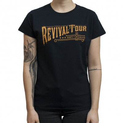revival-tour - Text | Fitted Girl T-Shirt