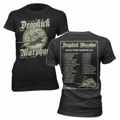 dropkick-murphys - Celtic Invasion Tour | Fitted Girl T-Shirt