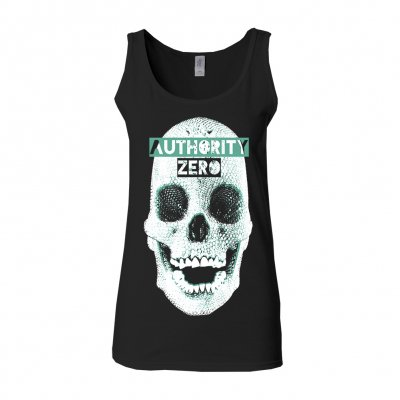 authority-zero - New Skull | Fitted Girl Tank Top