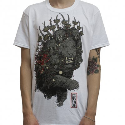 converge - Lion White | T-Shirt