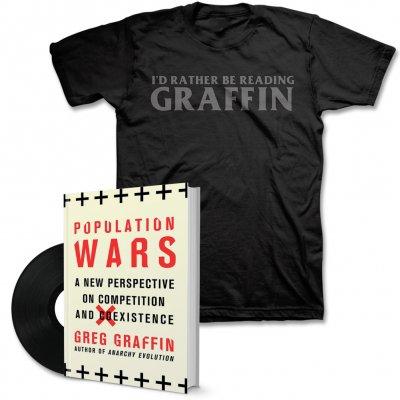 "Greg Graffin - Population Wars Book & 7"" & T-Shirt Bundle"