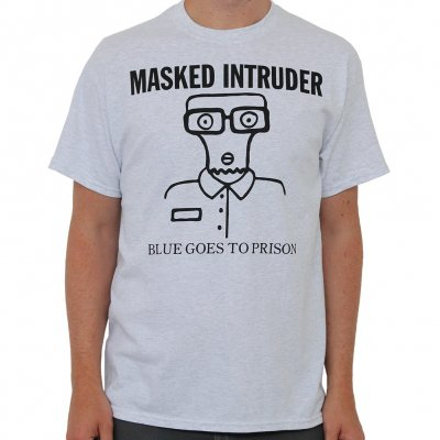 masked-intruder - Blue Goes | T-Shirt