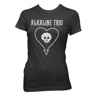 Alkaline Trio - Classic Heartskull | Fitted Girl T-Shirt