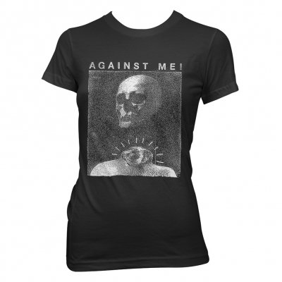 Against Me! - Video Skull | Fitted Girl Shirt