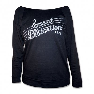 Social Distortion - Music Notes | Fitted Girl Sweatshirt