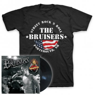 the-bruisers - Up In Flames/Flag | Vinyl+T-Shirt Bundle