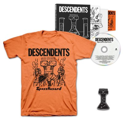 Descendents - Hypercaffium Spazzinate Deluxe CD + Spazzhazard T-Shirt + Enamel Pin Bundle