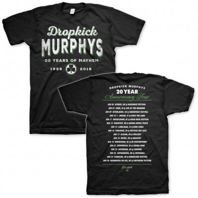 Dropkick Murphys - 20 Years Tour 2016 | T-Shirt