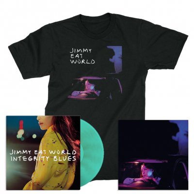 jimmy-eat-world - Integrity Blues/Get Right | Turquoise LP+Litho+T-Shirt Bundle