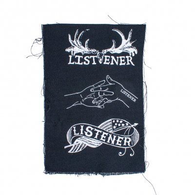 Listener - Flag, Hands, Antlers | Small Patch Set