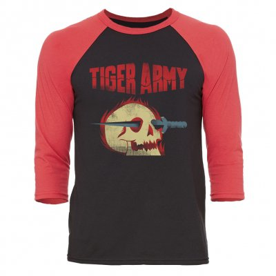 Tiger Army - Flaming Skull | 3/4 Baseball Longsleeve