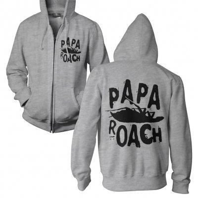 Papa Roach - Classic Logo Gray | Zip-Hood