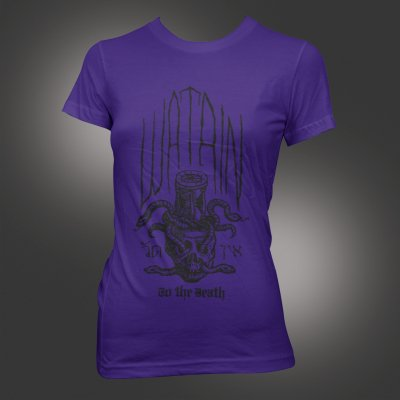 watain - Ad Mortem Purple | Fitted Girl Shirt