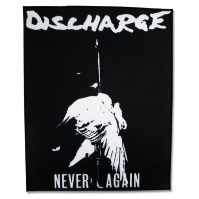 discharge - Never Again | Backpatch