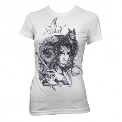 Faune White | Girl Fitted T-Shirt