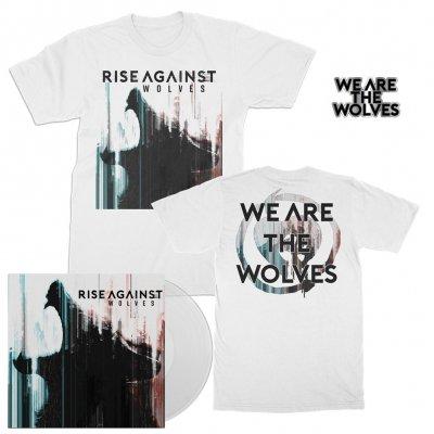 Rise Against - Wolves | Clear LP+T-Shirt+Pin Bundle
