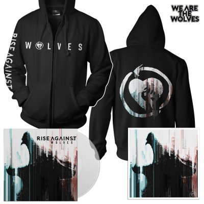 Rise Against - Wolves | Clear LP+Zip-Hood+Pin