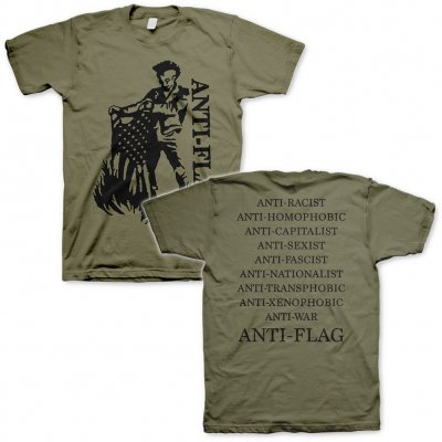 shop - Flag Burner Green | T-Shirt