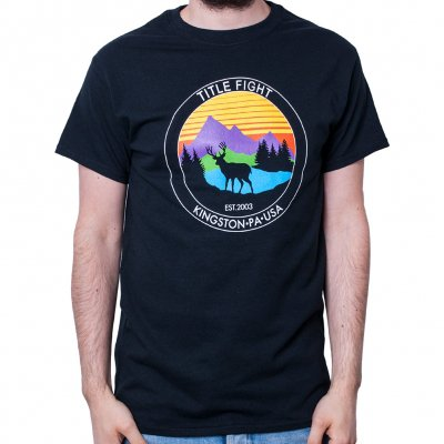 title-fight - Deer Black | T-Shirt