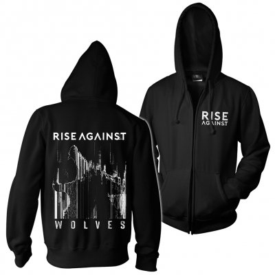 rise-against - Wolves Pocket | Zip-Hood