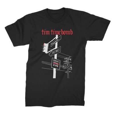 tim-timebomb - Telegraph Black | T-Shirt
