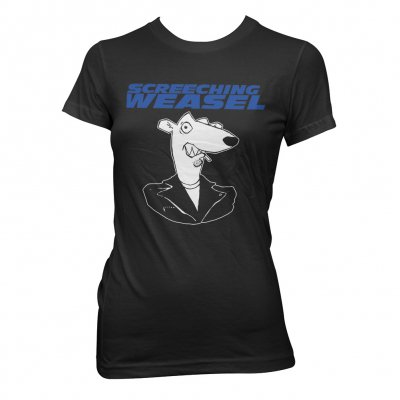 screeching-weasel - Classic Head   Fitted Girl T-Shirt